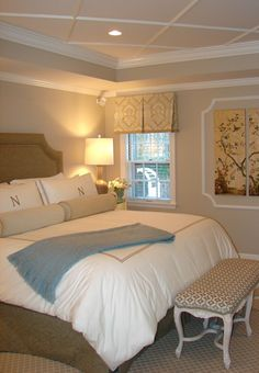 By using simple edge molding, you can have a dramatic ceiling treatment!