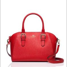 Kate Spade Cove Street Pippa Bag Beautiful Kate Spade Cove Street Pippa bag in Pillbox Red (a true red). Bought in December, carried for just a couple months. In perfect condition except there is a small pen mark on the front, which I tried to capture in the last two photos. ❌NO TRADES. NO PAYPAL.❌ kate spade Bags Totes