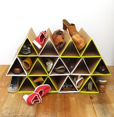 DIY Super Space Saving Shoe Rack