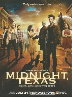 2017 PRINT AD for NBC tv Midnight Texas François Arnaud ADVERTISING PAGE