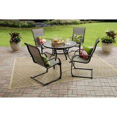 Metal Patio Dining Chair Set Porch Outdoor Garden Table Glass Top Frontgate NEW  #OUTDOORELEGANTFURNITURE