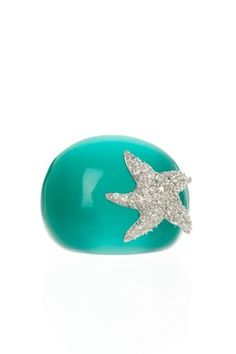 starfish ring with bling