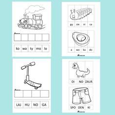 WYCINAM I UKŁADAM | SYLABY| .pdf do druku - Allegro.pl - Cena: 22,50 zł - Stan: nowy - Staniszcze Wielkie Diagram, Activities, Speech Language Therapy, Therapy