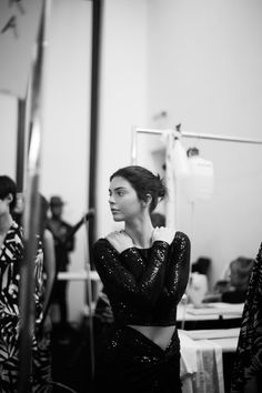 Kendall backstage at the Michael Kors SS18 show in New York - 13.09.2017