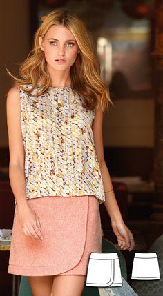 Mini Wrap Skirt Burda Sep 2016 #106  http://www.burdastyle.com/pattern_store/patterns/mini-wrap-skirt-092016