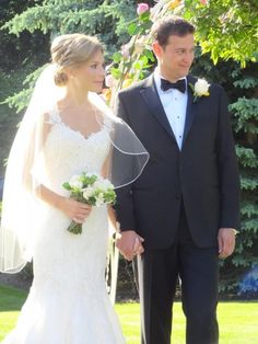 Lace straps and veil by Janine Adamyk Bridal Chic Wedding Dresses, Bridal Boutique, Bridal Accessories, Veil, Bridal Gowns, Real Weddings, Wedding Day, Bride, Beautiful
