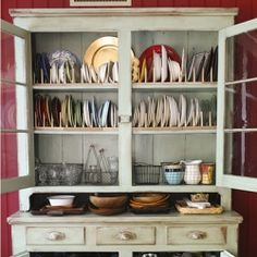 old hutch - china cabinet