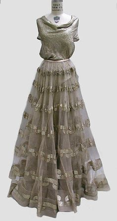 Silver Evening dress fall/winter 1938-1939 Madeleine VIONNET (French, Chilleurs-aux-Bois 1876-1975 Paris) Medium: metal thread
