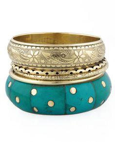 LuLu's Jasmine's Wish Turquoise Bangle Set