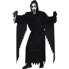 Fun World Costumes Men's Scream Costume Plus Size Black and White