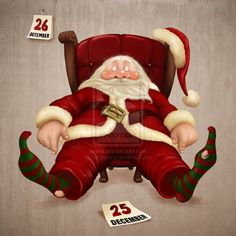 Funny Santa Claus Pictures : Christmas is a jolly holiday season and we do love Father Christmas who is known as Santa Claus. Santa claus is known to ride his reindeer sledge and bring gifts to kids After Christmas, Very Merry Christmas, Christmas Art, Xmas, Christmas Graphics, Christmas Scenes, Christmas Clipart, Christmas Animals, Christmas Printables