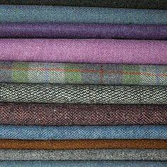 harris tweed, herringbone tweed, plain tweeds, isle of harris tweeds, tweed cloth Textiles, Harris Tweed Fabric, Tweed Run, Fabulous Fabrics, Haberdashery, Fabric Patterns, Hand Weaving, Womens Fashion, Male Fashion