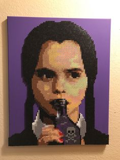 A personal favorite from my Etsy shop https://www.etsy.com/listing/557216987/wednesday-addams-made-from-thousands-of