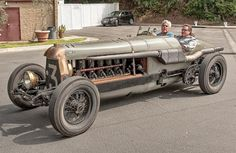 Jay Leno in his 1917 Fiat Botafogo Special - picture from Zalephotoart.com