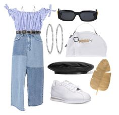 """""""Sem título #333"""" by gothic-girly ❤ liked on Polyvore featuring Ksubi, Versace, B-Low the Belt, NIKE, Allurez, Puma and Gucci"""