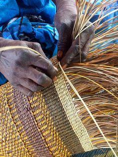 weaving of Pandanus Grass..Australia