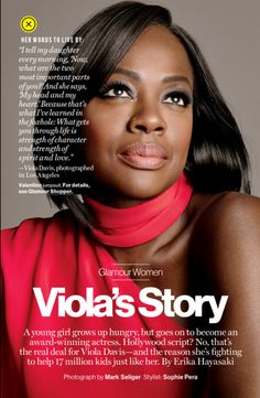 divalocity:Actress Viola Davis for Glamour Magazine April... (via Bloglovin.com )