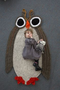 Who's Sleepy Owl Afghan, a new pattern from Lion Brand!