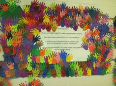 I pledge to be bully free! Love it! Gotta do this next year....Could do this on the OLWEUS Rules bulletin board.  Bully free is the way to be!