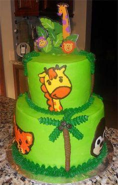 Safari Birthday Cake    www.facebook.com/BobbiCakes
