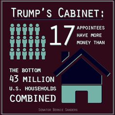 17 of Trump's Cabinet picks have more money than the bottom 43 MILLION U.S. households combined. - Democratic Underground