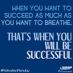 Success! #MotivationMonday