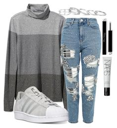 """""""Untitled #1729"""" by mfr-mtz ❤ liked on Polyvore featuring L.L.Bean, Topshop, adidas, Kendra Scott and NARS Cosmetics"""