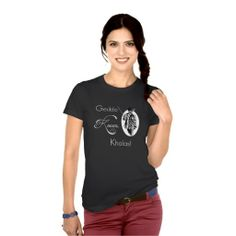 """Geddo Knows. Khalas!: """"Geddo"""" is Arabic for grandfather, and """"Khalas"""" is the Arabic word for """"enough."""" It's akin to saying """"don't question your elder because he knows best."""" (Middle Eastern Arabic Designs Store - Women's Clothing - Arab Tshirts)"""