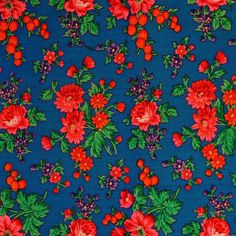 TYBET FABRIC Floral motif of soft wool tybet fabric, of which the skirt was made. Western Krakowiak Folk, Rudawa, P. Kraków, early c. Buy Fabric, Fabric Art, Fabric Design, Craft Patterns, Textile Patterns, Flower Prints, Flower Art, Polish Embroidery, Ramadan Cards
