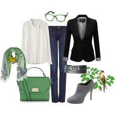 Y el bolso verde by ulstblog on Polyvore featuring moda, J.TOMSON, MANGO, Vince Camuto, Accessorize, Moschino and Hahn
