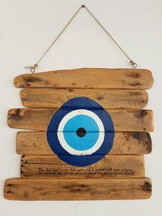 """SCIROCCO"" evil eye charm!- Naxos Greece Eye Painting, Stone Painting, Painting On Wood, Evil Eye Art, Greek Decor, Greek Evil Eye, Cottage Art, Wood Home Decor, Evil Eye Jewelry"