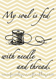 Family Ever After....: Free Sewing Printable: NEEDLE AND THREAD