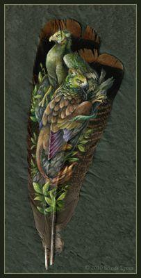 Painted Feathers - Brenda Lyons Illustration