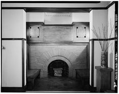 Frank lloyd Wright Home Studio,Fireplace | The Library of Co… | Flickr