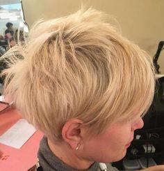 Choppy Blonde Pixie