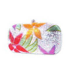 Floral Scroll Crystal Clutch Bag  #Swarovsk #Clutchbag  http://www.playbling.com/en/floral-scroll-crystal-clutch-bag.html