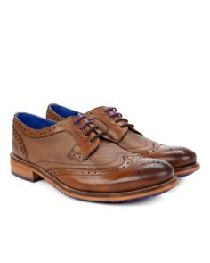 Leather wingtip derby brogues
