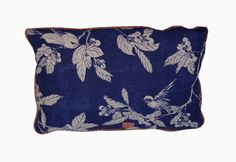 CRY OF THE CUCKOO!    The Cry of the Cuckoo! pillow in Indigo with Raoul backing and welt