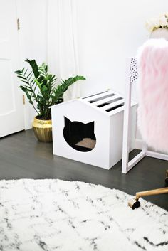 Litter Box Cover DIY! | A Beautiful Mess | Bloglovin'