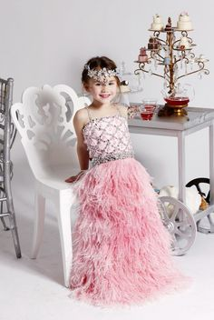 Cheap girl dress princess, Buy Quality girls feather dress directly from China dresses casual Suppliers: girls feather dress pageant dress for little girls spaghetti strap floor length spaghetti strap a line beaded crystal d Flower Girls, Flower Girl Gown, Cheap Flower Girl Dresses, Wedding Flower Girl Dresses, Little Girl Dresses, Girls Dresses, Junior Pageant Dresses, Pagent Dresses, Pageant Gowns
