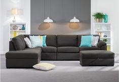 Rumpus Fabric Corner Chaise Suite | Super Amart