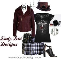"""""""Gothic Outfit"""" by ladydivdesigns on Polyvore"""