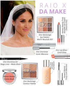"""catherineandpippa: """"Steal her look - Duchess of Sussex - Meghan Markle """" Chanel Makeup, Blush Makeup, Bridal Makeup, Eye Makeup, Meghan Markle, Megan Markle Makeup, Diorshow Mascara, Dior Lip Glow, Wholesale Makeup"""