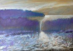 Inverno sul lago 50x70 cm Luigi Torre painter