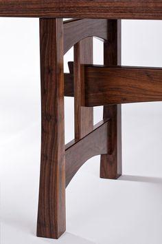 Zen Furniture, Craftsman Furniture, Woodworking Furniture, Handmade Furniture, Unique Furniture, Furniture Design, Walnut Dining Table, Wood Table, Mission Style Furniture