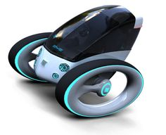 Futuristic, vehicle,  Smart, Fiat Eye, Single Rider, transportation, future, Dinard Da Mata, balanced gyroscopically, electric vehicle, green transportation, eco-friendly, fantastic, concept, innovation