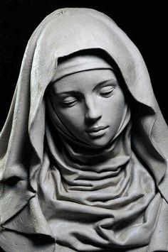 Philippe Faraut Stone Sculptures, Sculpture Clay, Statue Tattoo, Marble Bust, Religious Tattoos, Religious Art, Rado, Design Interiors, Ronde Bosse