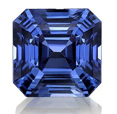 Beautiful ascher cut sapphire