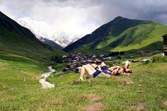 Swanetia, Usghuli, Gruzja - Warto tam po prostu poleżeć :)
