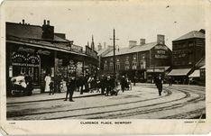 Clarence Place Newport Mon Monmouthshire Wales Ernest T Bush Postcard Newport Gwent, See It, Old Photos, Wales, Past, Empire, Street View, David, Posters